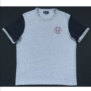 Fred Perry Wreath Color Block S/S Crewneck T Shirt